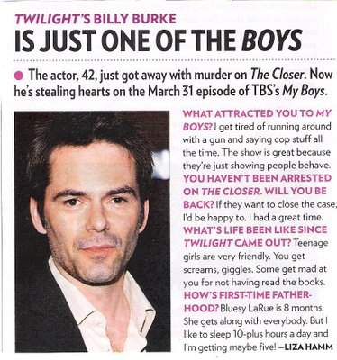 Billy Burke (Scan from Cullen Boys Anonymous)