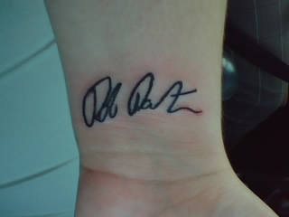 Fan's Tattoo of RPATTZ's Signature
