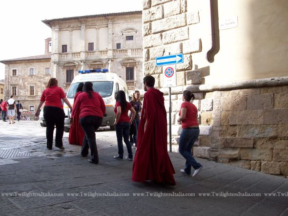 Red robes in Montepulciano