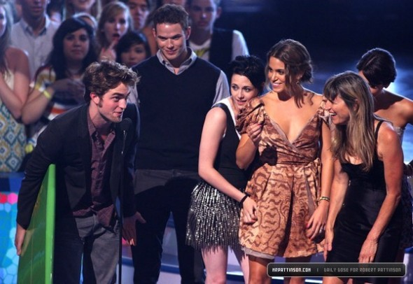Cast at the TCA's stage